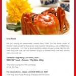 Crab Fiesta this Autumn at Radisson Blu Pudong Century Park