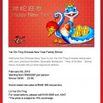 Radisson Blu Pudong Century Park's Yar Chi Ting Chinese New Year Family Dinner