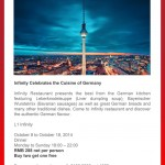 Infinity Celebrates the Cuisine of Germany at Radisson Blu Hotel Pudong Century Park in Shanghai